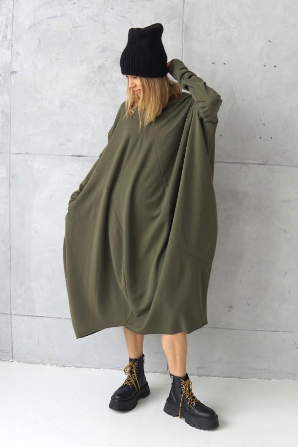 3D KHAKI DRESS