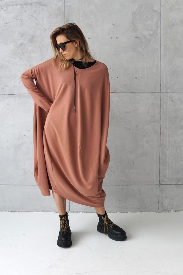 3D PEACH DRESS