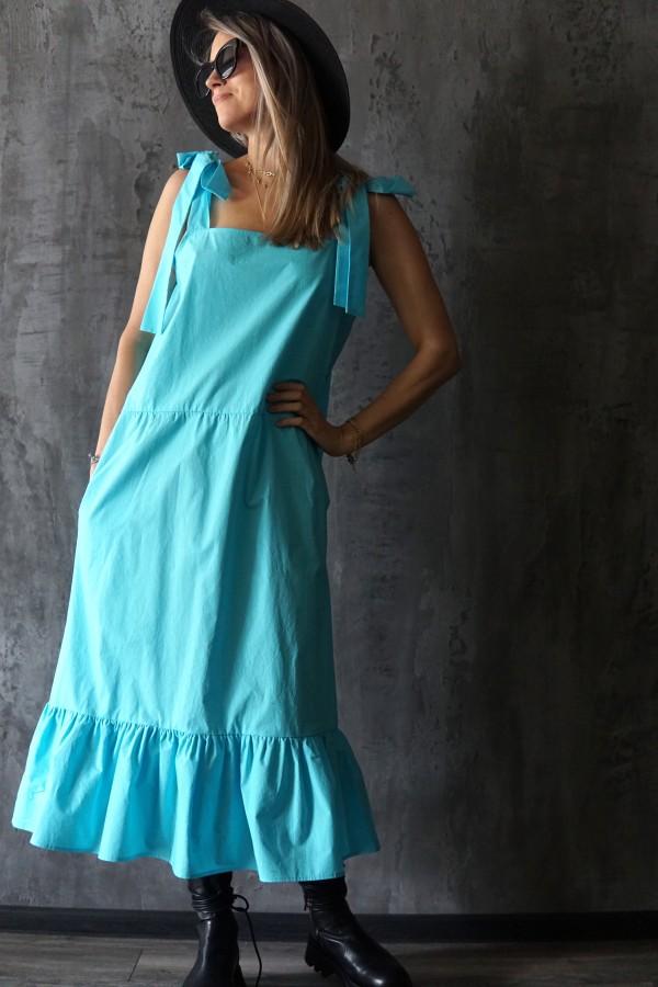 summer blue dress