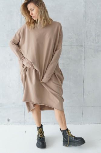 simple creamy dress