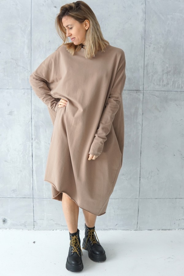 simple creamy dress