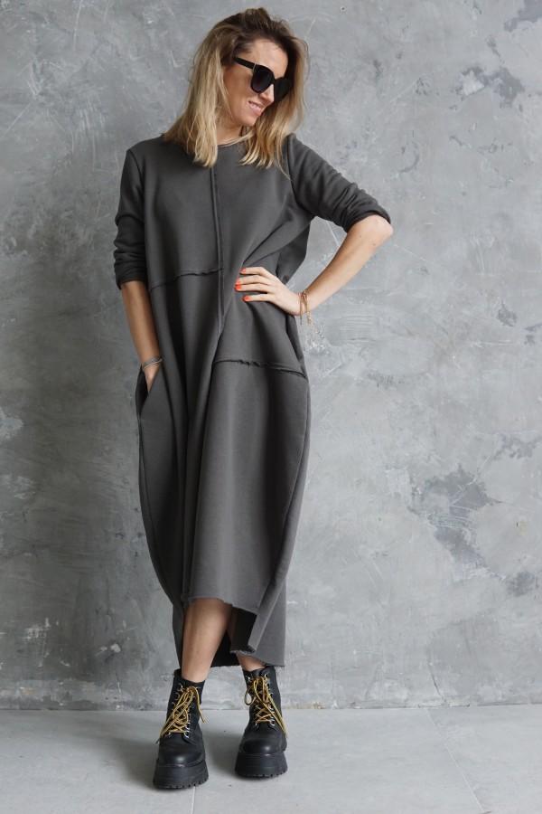 casual gray dress