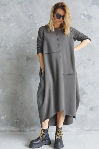 casual gray dress
