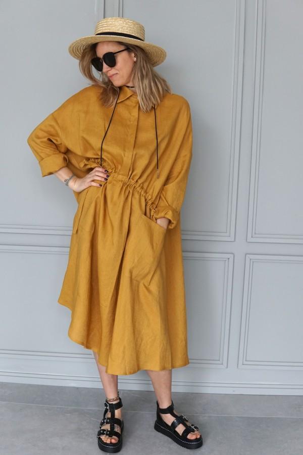 linen dress california