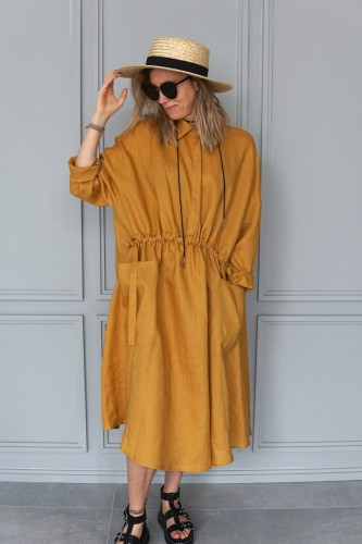 linen dress california
