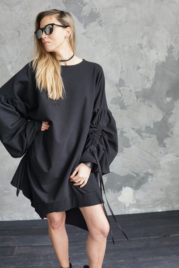 DRESS WITH INTERESTING SLEEVES