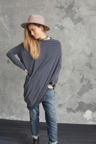 GRAY BLOUSE MILAN