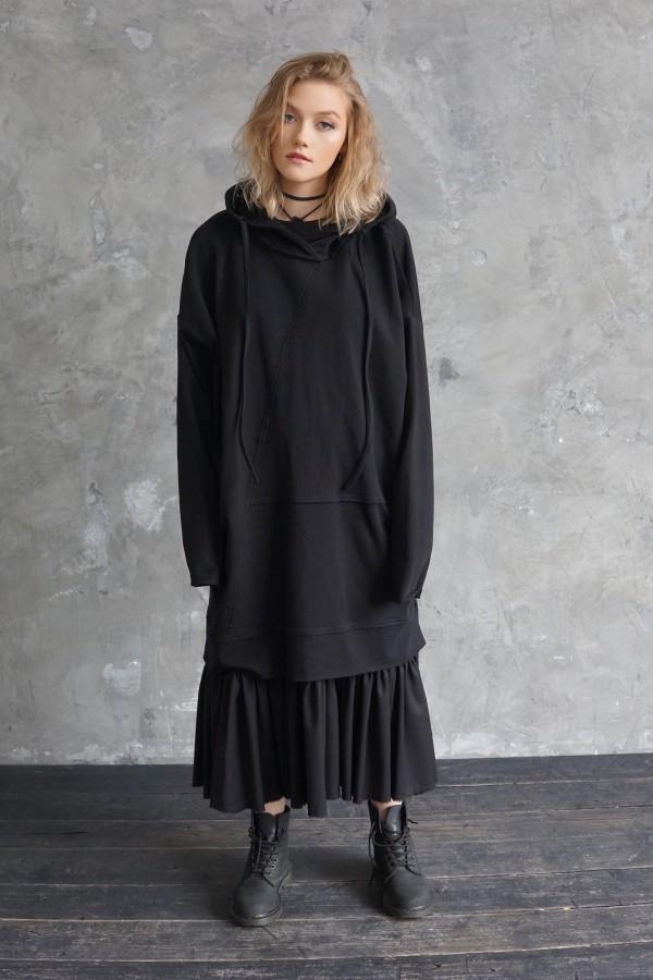black dress-sweatshirt