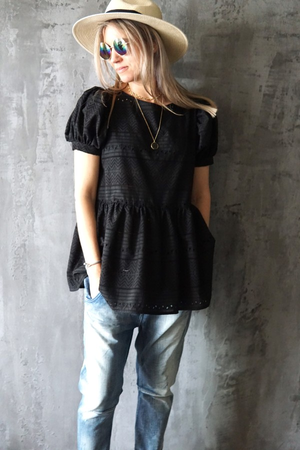 BLACK BLOUSE SEVILE