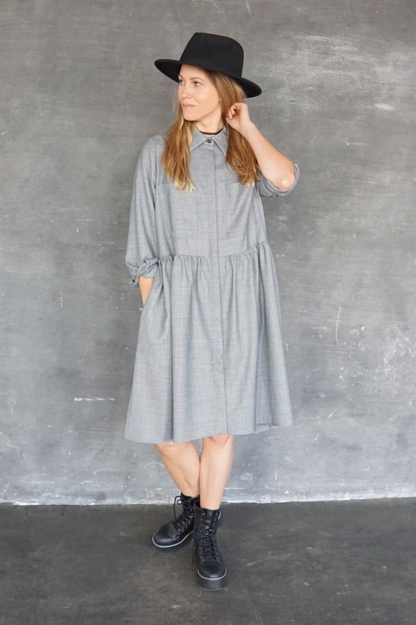 gray dress/shirt