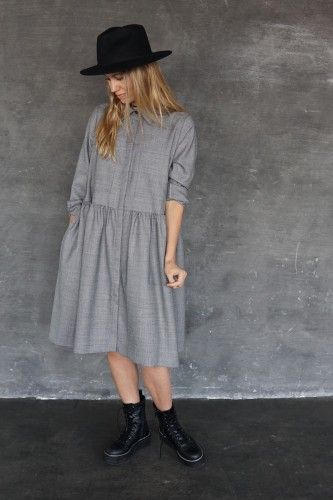 gray dress/shirt