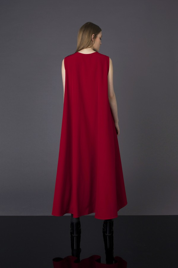 red dress with pocket