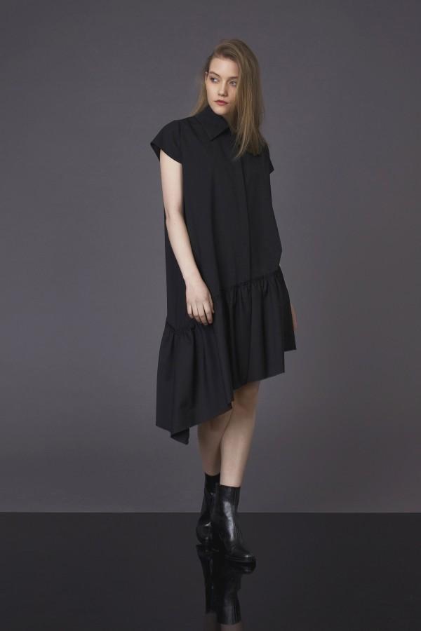 asymmetric cutting dress