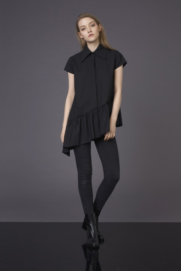 asymmetric cutting shirt