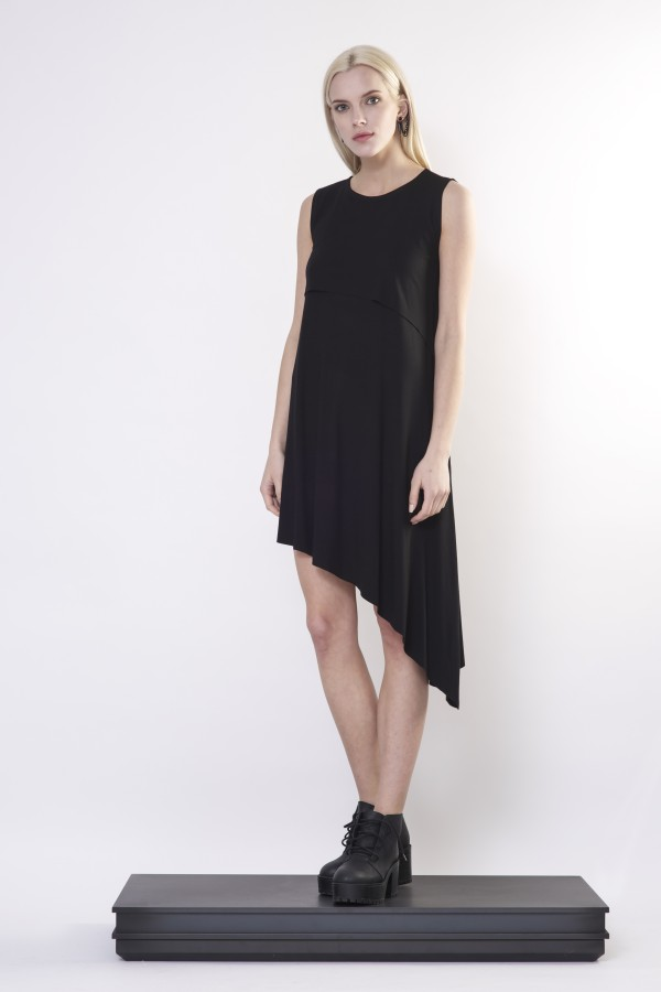 Black asymmetrical dress