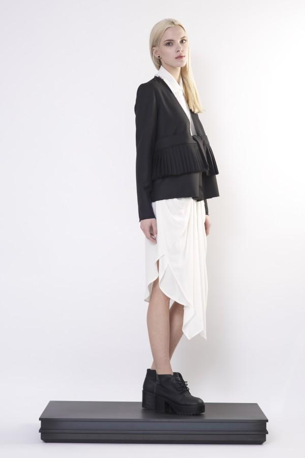jacket with pleats