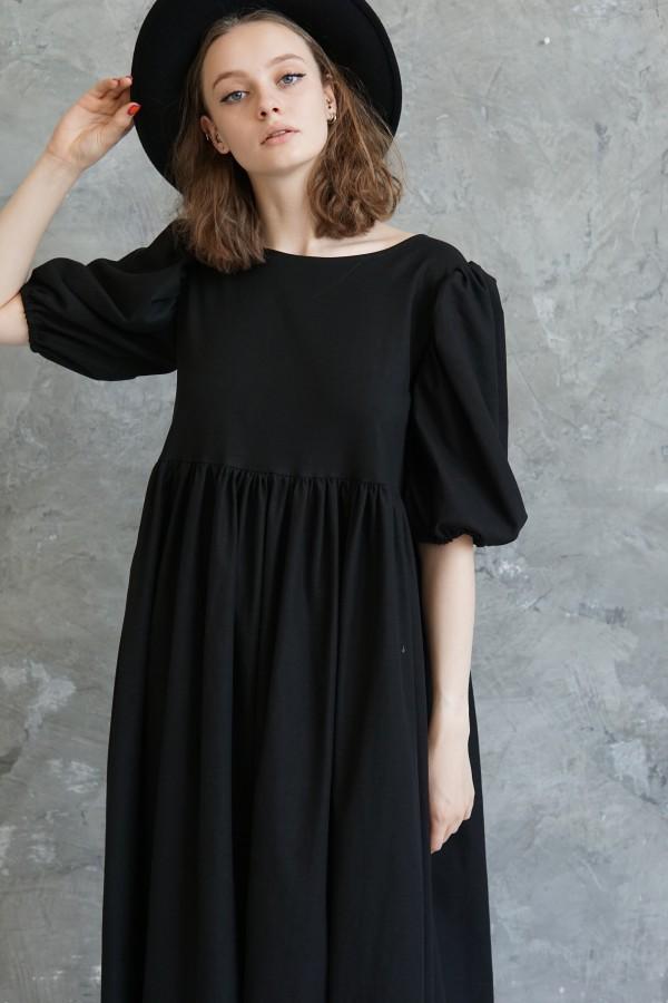 black linen dress