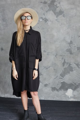 black shirt with detail on back