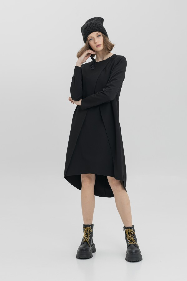 dress with pleated collar