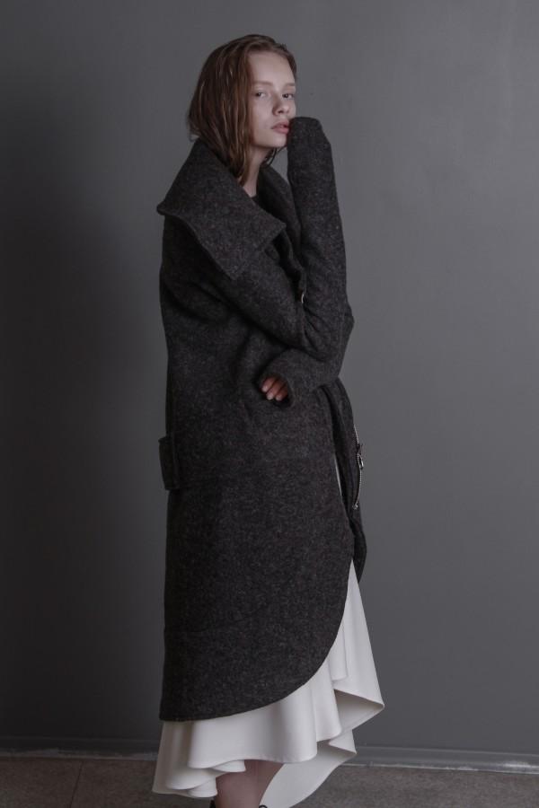 gray woolen coat