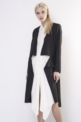 raw black coat