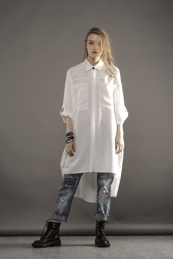 new long white shirt