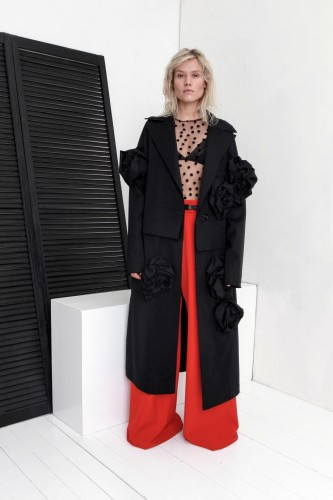 coat with flowers