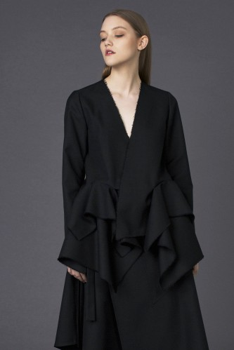 raw black jacket